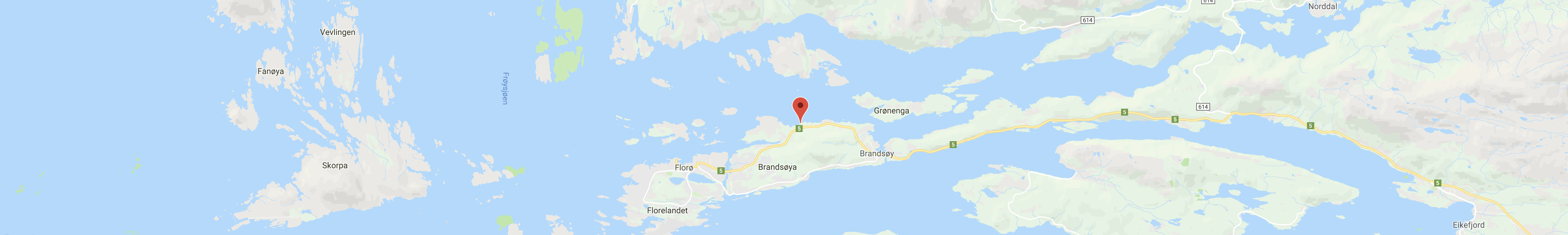 Kart Florø, FMV AS Botnastranda 6 6900 FLORØ